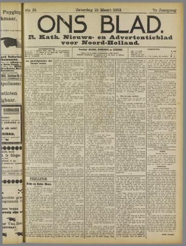 Ons Blad : katholiek nieuwsblad voor N-H 1913-03-15