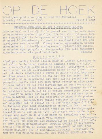 Op De Hoek, weekblad voor Akersloot 1955-11-12