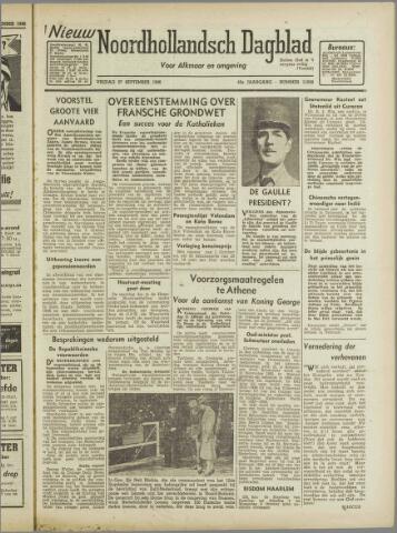 Nieuw Noordhollandsch Dagblad : voor Alkmaar en omgeving 1946-09-27