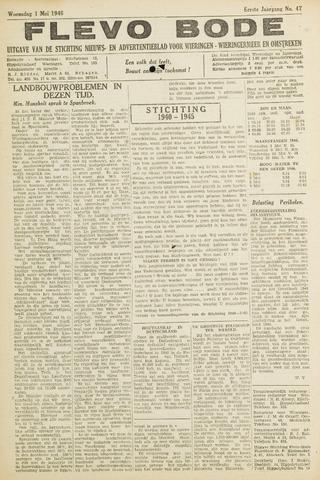 Flevo-bode: nieuwsblad voor Wieringen-Wieringermeer 1946-05-01