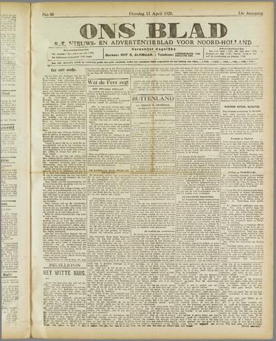 Ons Blad : katholiek nieuwsblad voor N-H 1920-04-13
