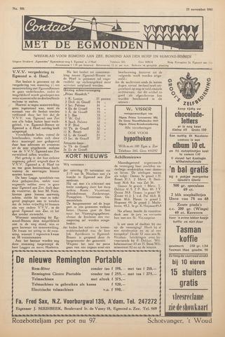 Contact met de Egmonden 1961-11-23