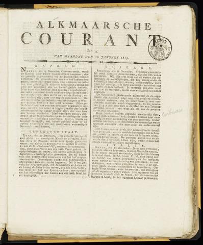 Alkmaarsche Courant 1815-01-16