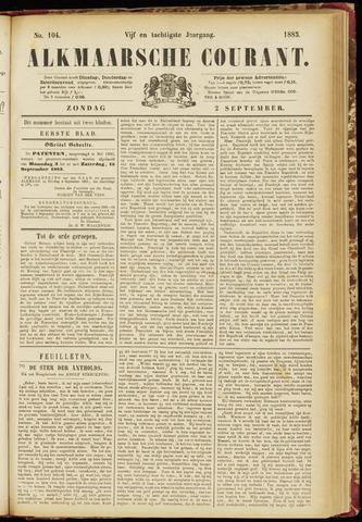 Alkmaarsche Courant 1883-09-02