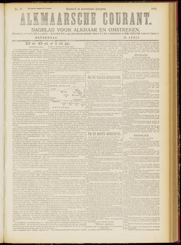 Alkmaarsche Courant 1915-04-22