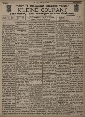 Vliegend blaadje : nieuws- en advertentiebode voor Den Helder 1908-02-19