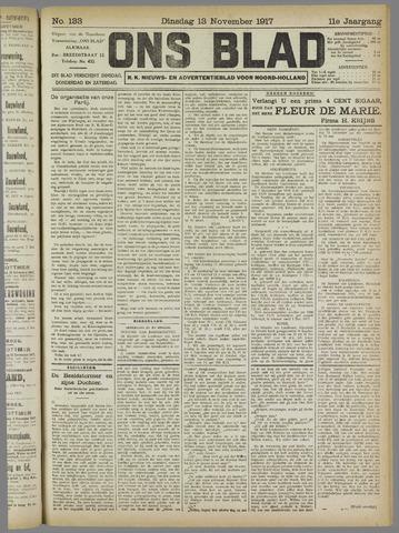 Ons Blad : katholiek nieuwsblad voor N-H 1917-11-13