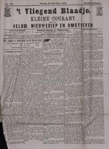 Vliegend blaadje : nieuws- en advertentiebode voor Den Helder 1879-12-30