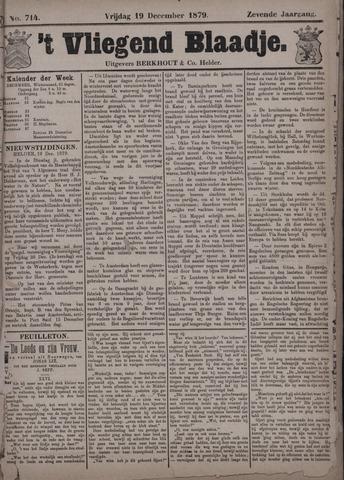 Vliegend blaadje : nieuws- en advertentiebode voor Den Helder 1879-12-19