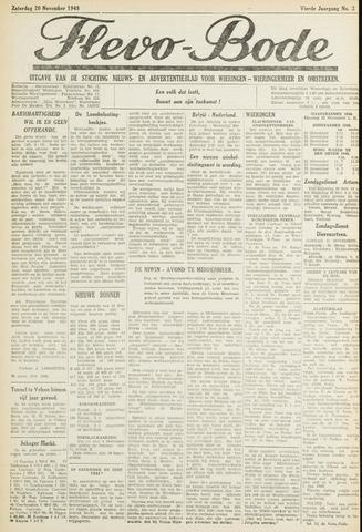 Flevo-bode: nieuwsblad voor Wieringen-Wieringermeer 1948-11-20