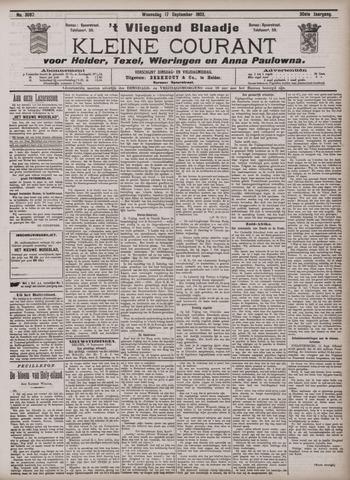 Vliegend blaadje : nieuws- en advertentiebode voor Den Helder 1902-09-17