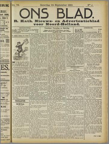 Ons Blad : katholiek nieuwsblad voor N-H 1910-09-24