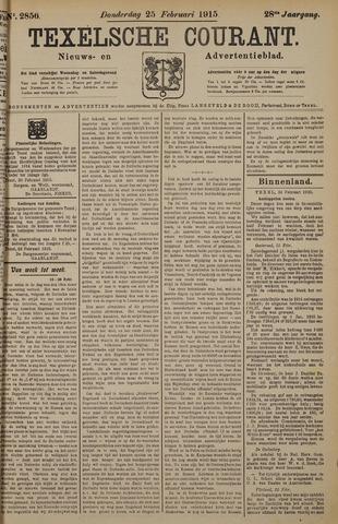 Texelsche Courant 1915-02-25