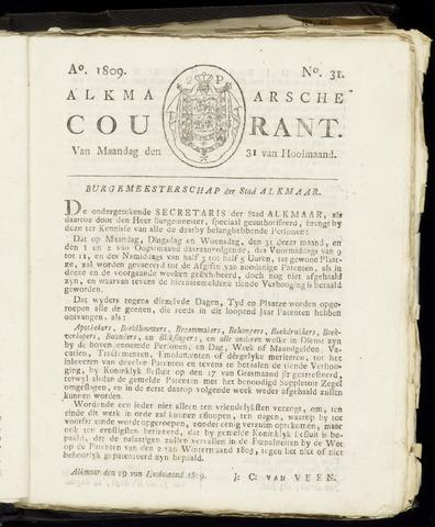 Alkmaarsche Courant 1809-07-31