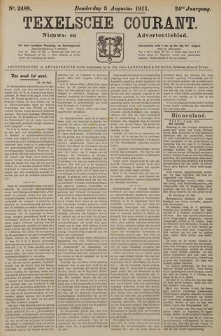 Texelsche Courant 1911-08-03