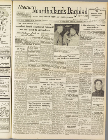 Nieuw Noordhollandsch Dagblad : voor Alkmaar en omgeving 1949-10-05
