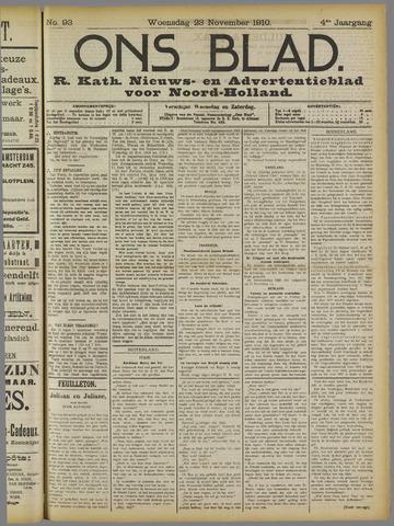 Ons Blad : katholiek nieuwsblad voor N-H 1910-11-23