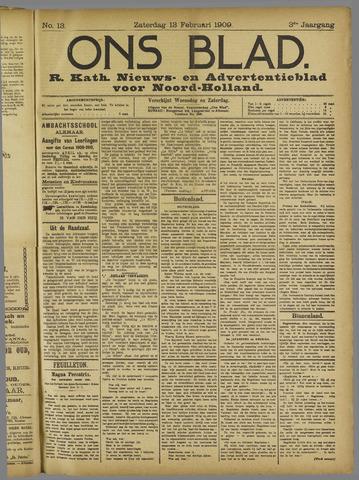Ons Blad : katholiek nieuwsblad voor N-H 1909-02-13