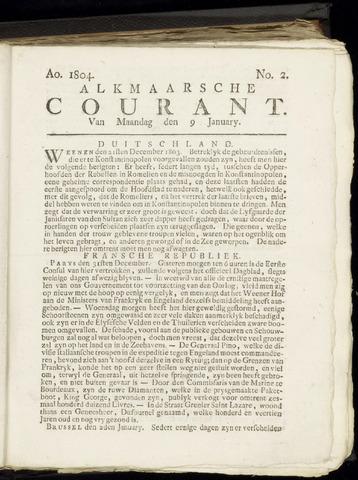 Alkmaarsche Courant 1804-01-09