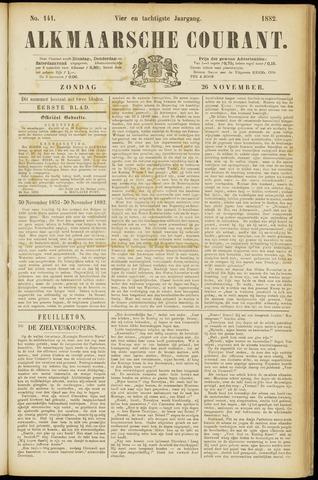 Alkmaarsche Courant 1882-11-26