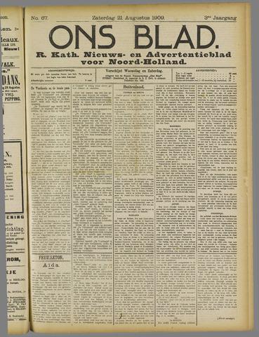 Ons Blad : katholiek nieuwsblad voor N-H 1909-08-21