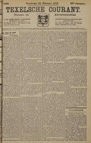 Texelsche Courant 1916-02-24