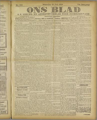 Ons Blad : katholiek nieuwsblad voor N-H 1919-07-21