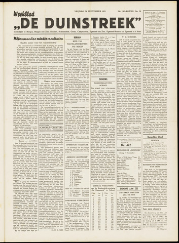 De Duinstreek 1951-09-28