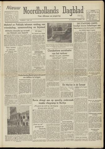 Nieuw Noordhollandsch Dagblad : voor Alkmaar en omgeving 1948-04-07