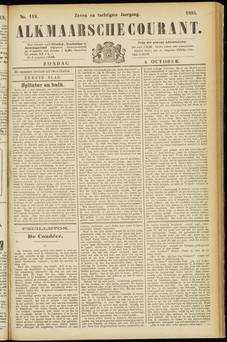 Alkmaarsche Courant 1885-10-04