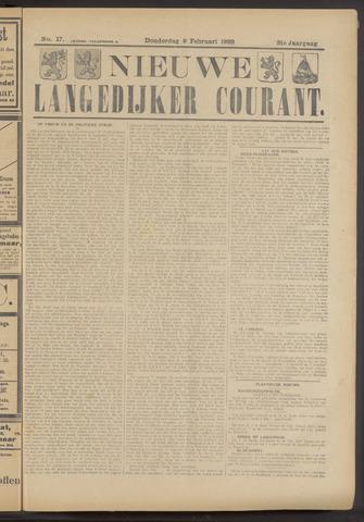Nieuwe Langedijker Courant 1922-02-09
