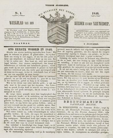 Weekblad van Den Helder en het Nieuwediep 1846-01-05