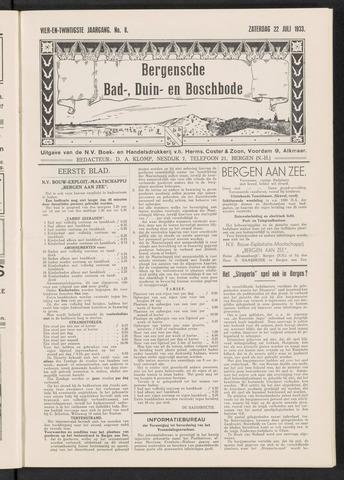 Bergensche bad-, duin- en boschbode 1933-07-22