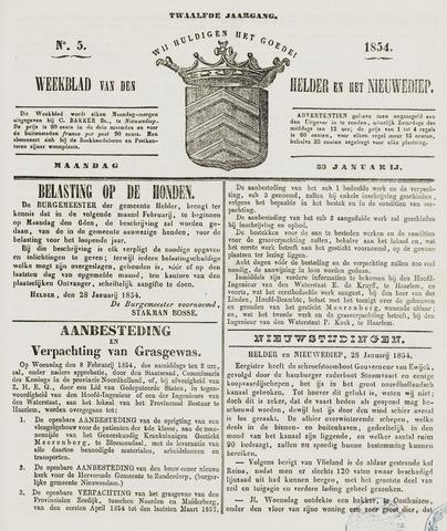 Weekblad van Den Helder en het Nieuwediep 1854-01-30