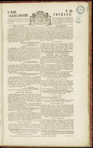 Alkmaarsche Courant 1851-08-11
