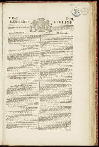 Alkmaarsche Courant 1852-09-27