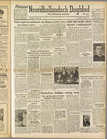 Nieuw Noordhollandsch Dagblad : voor Alkmaar en omgeving 1947-03-10