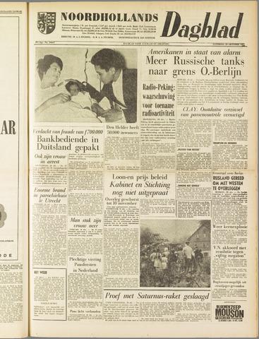 Noordhollands Dagblad : dagblad voor Alkmaar en omgeving 1961-10-28