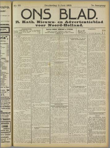 Ons Blad : katholiek nieuwsblad voor N-H 1913-06-05