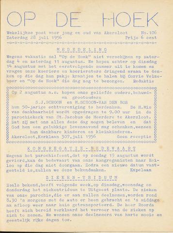 Op De Hoek, weekblad voor Akersloot 1956-07-28