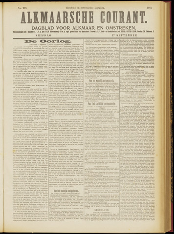 Alkmaarsche Courant 1915-09-17