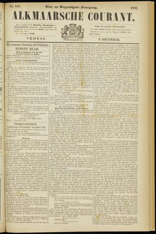 Alkmaarsche Courant 1892-12-09