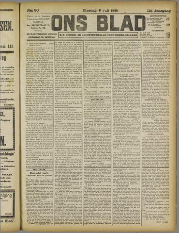 Ons Blad : katholiek nieuwsblad voor N-H 1918-07-09