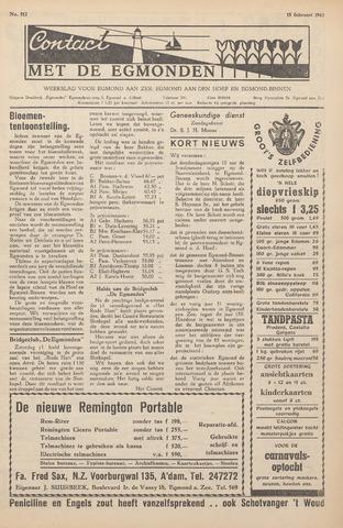 Contact met de Egmonden 1962-02-15