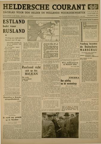 Heldersche Courant 1939-09-29