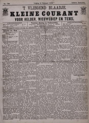 Vliegend blaadje : nieuws- en advertentiebode voor Den Helder 1880-02-06