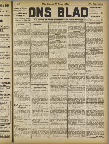 Ons Blad : katholiek nieuwsblad voor N-H 1916-06-08