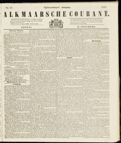 Alkmaarsche Courant 1873-11-23