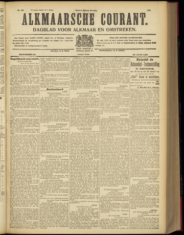 Alkmaarsche Courant 1928-01-19