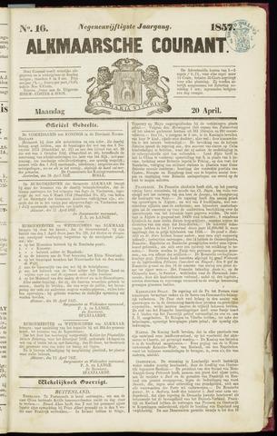 Alkmaarsche Courant 1857-04-20